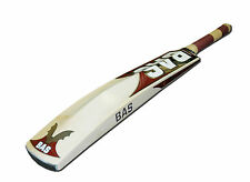 BAS BOW 20/20 CRICKET BAT - MAROON / GOLD - HAND CRAFTED - 3 SIZES