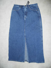 EDDIE BAUER Denim Jean Long Length Modesty Skirt Sz 8 / 10