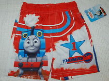 Toddler Boys Swim Trunks THOMAS THE TRAIN & FRIENDS Red Blue 18 MO 24 MO 3T 4T