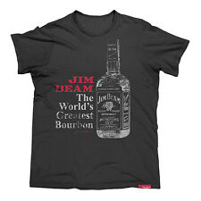 JIM BEAM Men's Worlds Greatest Bourbon T Shirt For Man Cave Gift Clearance Sale