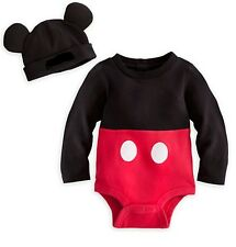 Disney Store Mickey Mouse Baby Costume Outfit Boys Size 3 6 9 12 18 24 Months