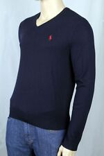 Polo Ralph Lauren Navy Blue Wool Sweater Red Pony NWT