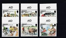 JERSEY 1991 OVERSEAS AID Stamps 6v SG558-563 Unmounted Mint REF:W741