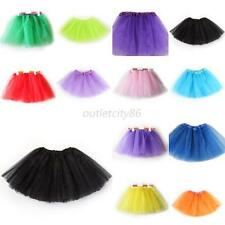 3 Layers Tutu Skirt Girls Kids Ballet Dance Wear Dress Skirt Tulle Pettiskirt