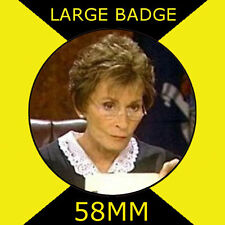 JUDGE JUDY-JUDGE JUDITH SHEINDLIN - 58MM LARGE BADGE/FRIDGE MAGNET/HANDBAG/#4