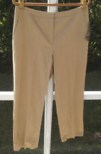 KASPER BROWN KHAKI CLASSIC COTTON SPANDEX EASY CARE DRESS SLACKS PANTS 12/31 NEW