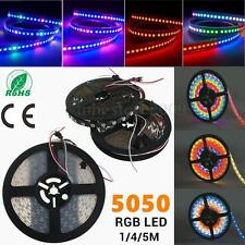 1/4/5M WS2812B 5050 RGB LED Flexible Strip Light Lamp Individual Addressable 5V