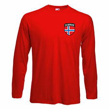 Norway Norge Norwegian Long Sleeved Football Soccer Team T-Shirt (All Sizes)
