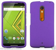PURPLE Snap-On Case Hard Cover for Motorola Moto X Play / Droid Maxx 2