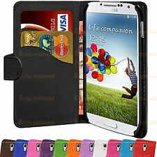 PU Leather Flip Book Wallet Case Cover Pouch For Samsung Galaxy S4 i9500
