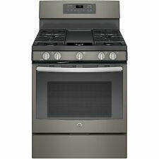 GE Black 30-inch Free-Standing Gas Convection Range