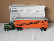 New In Box First Gear 1960 Mack B61 Tractor & Trailer Border Express Inc.