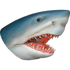 Huge Great White Shark Lifesize Fiberglass  Wall Bust Statue,25'' W x 34''H