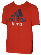 MENS ADIDAS TENNIS athletic running GRAPHIC LOGO TEE T SHIRT CLIMALITE Reg. $32
