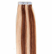 20 Pcs 40g Straight Tape in 100% Real Remy Human Hair Extensions Blond 20-24""