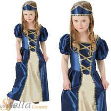 Girls Tudor Medieval Princess Queen Book Week Fancy Dress Costume Child Outfit