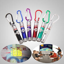 3in1 Ultraviolet Money Detector Red Laser Pointer Pen LED Flashlight Key Ring