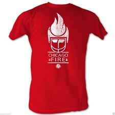 T-Shirts Sizes S-2XL World Football League Vintage Chicago Fire Red Mens TShirt