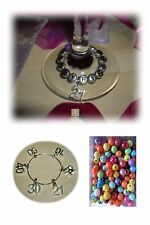 Birthday wine glass charm ring 16th 18th 21st 30th 40th 50th 60th 65th Birthday
