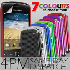 MESH NET SKIN CASE,SCREEN PROTECTOR & STYLUS PEN FOR BLACKBERRY CURVE 9380
