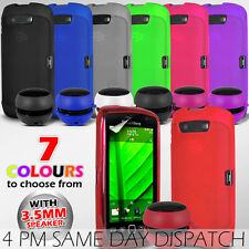GEL SKIN CASE COVER, SCREEN PROTECTOR & SPEAKER FOR BLACKBERRY TORCH 9860