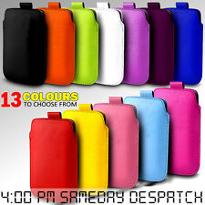 LEATHER PULL TAB SKIN CASE COVER POUCH  FOR VARIOUS HTC MOBILE