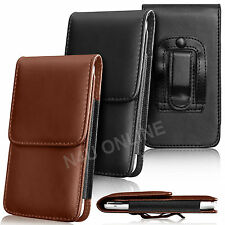 PU Leather Pouch Belt Holster Skin Case Cover For Alcatel Mobile Phones