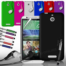 HARD BACK SKIN CASE COVER, LCD FILM, STYLUS PEN & EARPHONE FOR HTC DESIRE 510