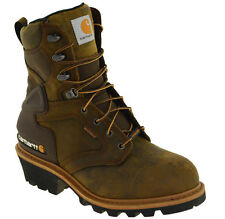 Carhartt Men's Soft Toe Waterproof Insulated Logger Work Boots Style CML8129