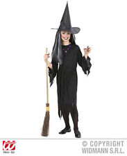 Witches Costume, Dress, Belt + Hat, Witch dress black, Girl
