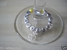 Wine Glass 65th Birthday Present 65th Personalised Wine Glass Charm Gift Bag
