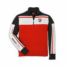 Ducati Sweatshirt Corse '14 1/2 Zip Sweater Sweater white red new Shirt