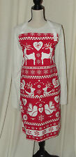 ADULTS APRON - CHRISTMAS PATTERN - POCKET - FULLY LINED - 36
