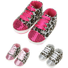 Kid Baby Girl Infant Toddler Soft Sole Leopard Prewalker Shoes Cribs Shoes 0-18M