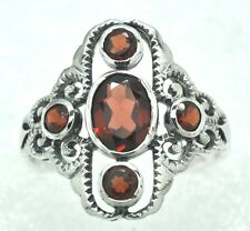 Garnet Ring with Garnet 925 Silver ANTIQUE STYLE Sterling silver