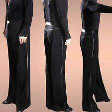 Men Ballroom Latin Dance Loose Stage Costume Modern Dance Practice Pants