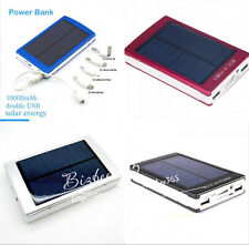 100000mAh Solar Power Panel Power Bank Dual USB External Mobile Battery Charger
