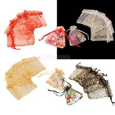 100 Wedding Party Favour Gift Organza Bags Jewellery Drawstring Pouches 7x9cm