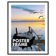 11 x 30 Custom Poster Picture Frame 11x30 - Select Profile, Color, Lens, Backing