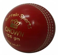 BUFFALO SPORTS CROWN CRICKET BALL - RED / WHITE / PINK / ORANGE / YELLOW