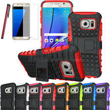 Rugged Hybrid Shockproof Armor Stand Case Cover For Samsung Galaxy S7/S7 Edge