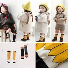 New Baby Toddler Kids Girls Boys Soft Pencil Pattern Cotton Knee Socks Cozy