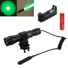 Rechargeable Whit /Green 3000LM CREE T6 LED Tactical Flashlight Torch Lamp 18650