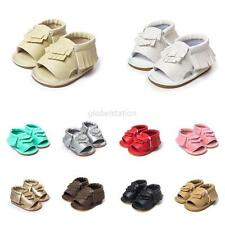 Toddler Infant Baby Tassel Crib Sandals Prewalkers Shoes Soft Sole Leather Shoes