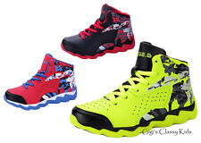 New Boys Ankle High Top Sneakers Tennis Shoes Kids Youth Basketball Athletic