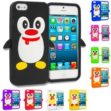 Penguin Cute Silicone Color Rubber Skin Case Cover for Apple iPhone SE