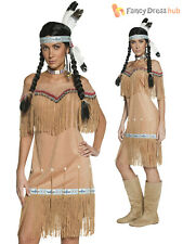 Adults Native Indian Costume Ladies Pocahontas Fancy Dress Mens Warrior Outfit