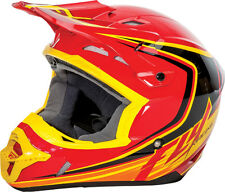 Fly Racing KINETIC FULLSPEED Off-Road MX Helmet - Red/Black/Yellow - Youth/Adult