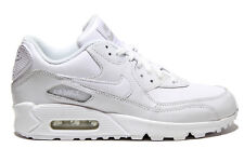 Nike Air Max 90 GS Leather All White  307793-111 Grade School 4-7