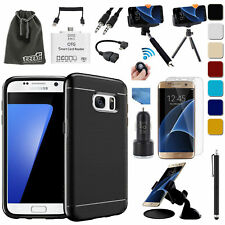 EEEKit for Samsung Galaxy S7 / S7 Edge,Slim Fit Case,Screen Protector,OTG Cable